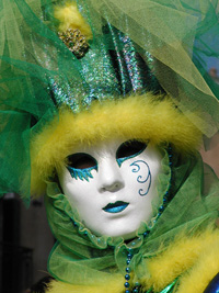 Venetian Carnival Mask Green