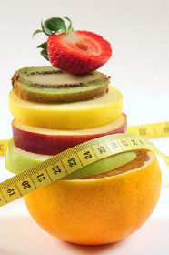 Fruit with Measuring Tape for Dieting