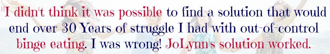 20 Pound Weight Loss Testimonial The Inner Self Diet   Emotional Eating Coach JoLynn Braley   FearlessFatLoss.com