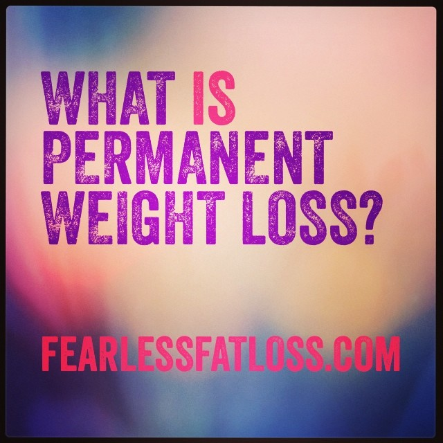 What Is Permanent Weight Loss