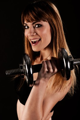 Fit Woman with Hand Weight
