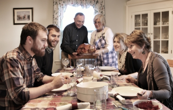 Thanksgiving Dinner with Family at FearlessFatLoss.com