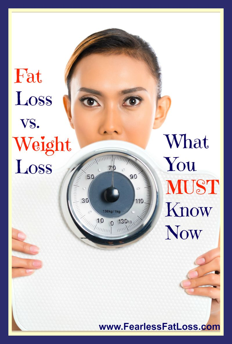 Fat Loss vs Weight Loss: What You MUST Know Now