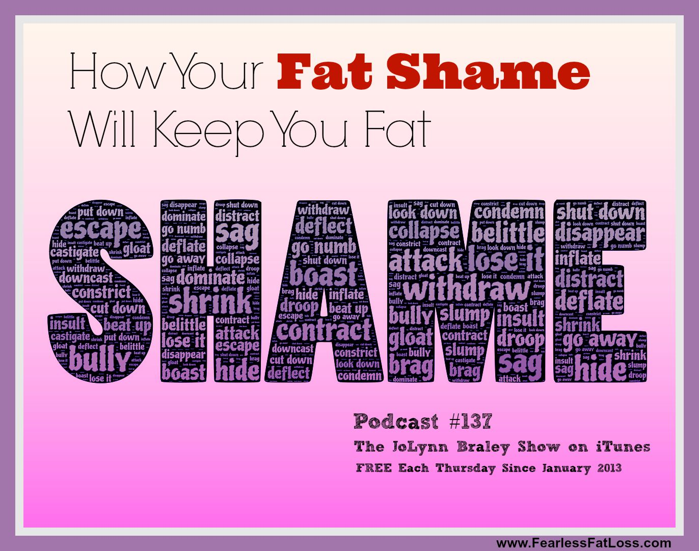 How Your Fat Shame Will Keep You Fat - FearlessFatLoss