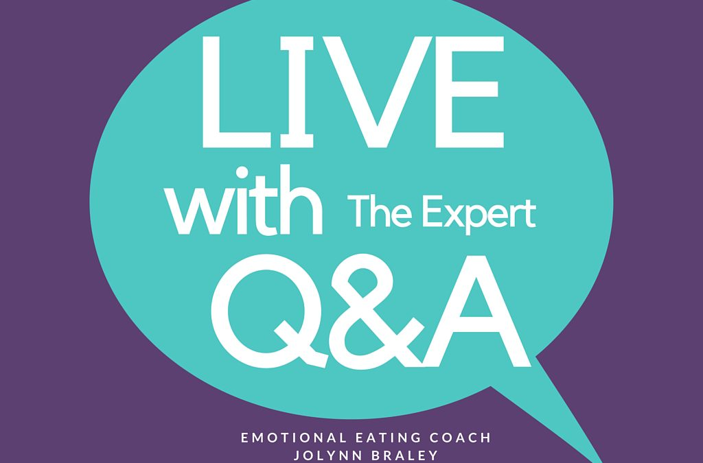 Live Q&A with Emotional Eating Expert JoLynn Braley Permanent Weight Loss Coach