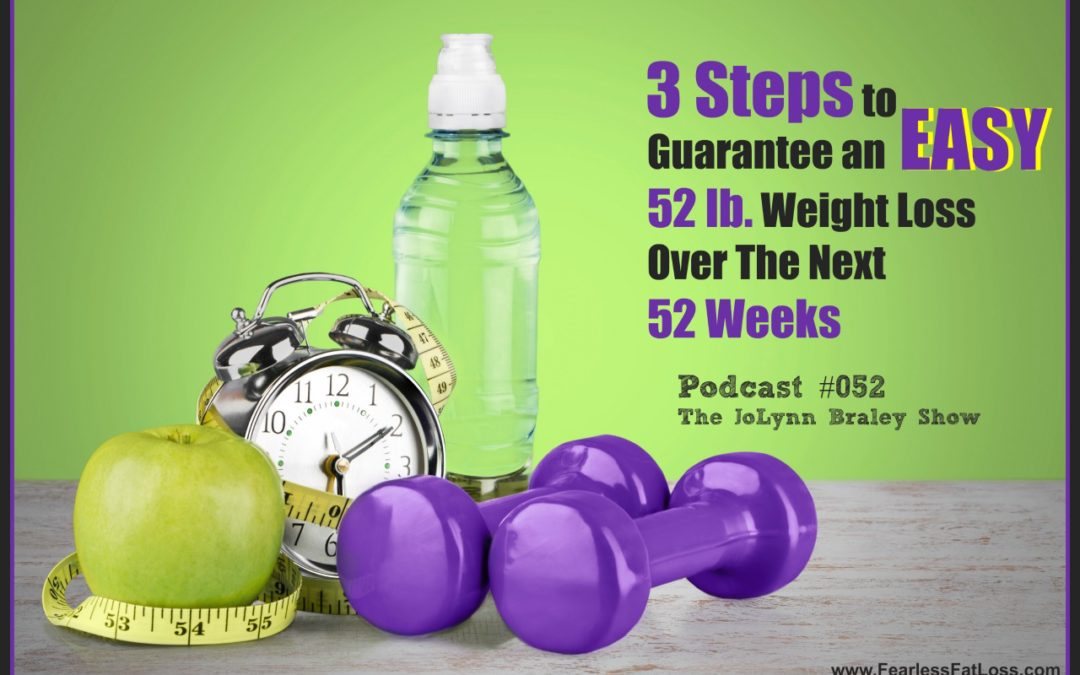 3 Steps to Guarantee an EASY 52 lb Weight Loss In 52 Weeks [Podcast #052]